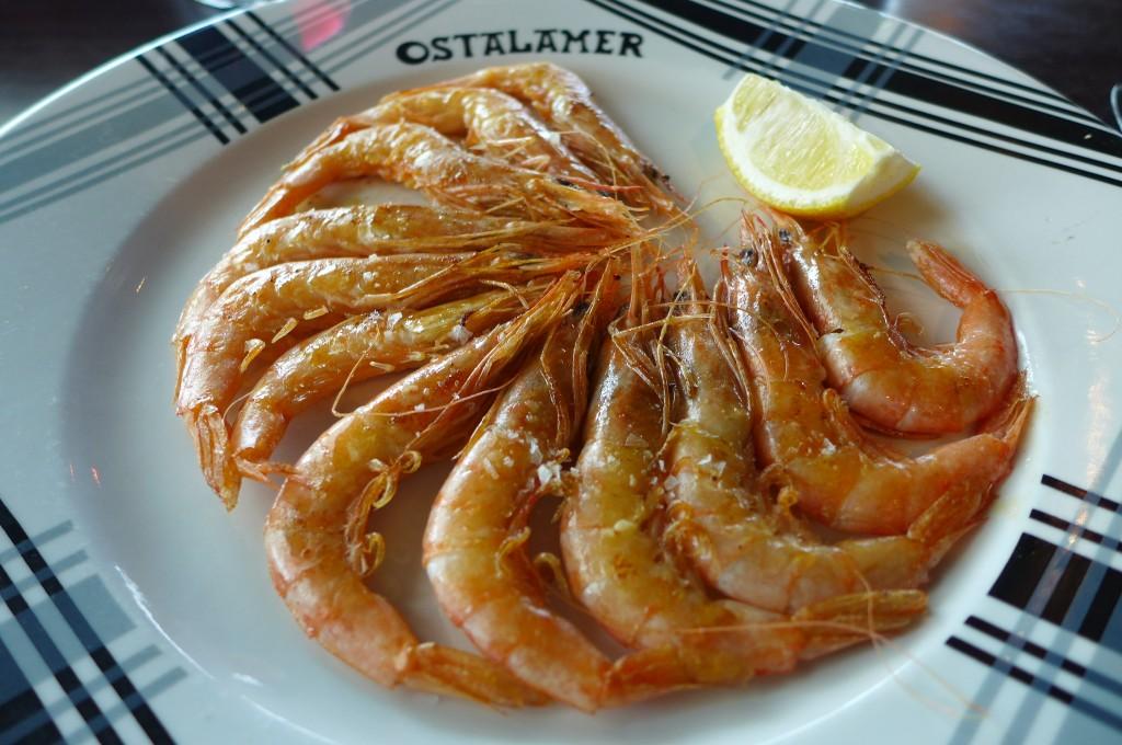 Crevettes poêlées © GP
