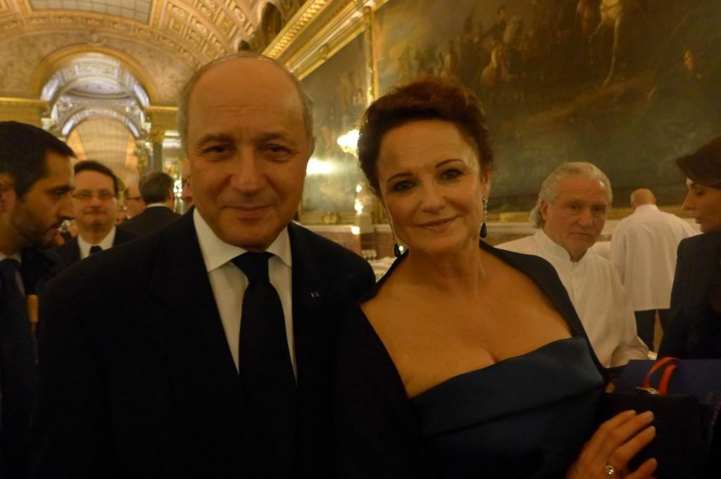 Laurent Fabius et madame © GP