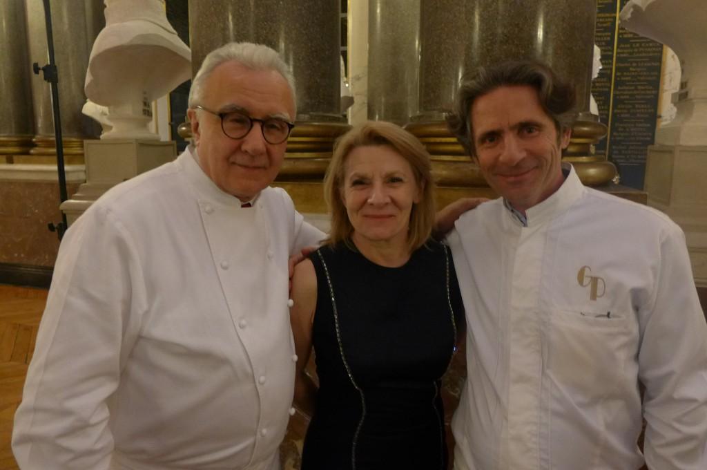 Alain Ducasse, Catherine Pégard, Gérald Passédat © GP