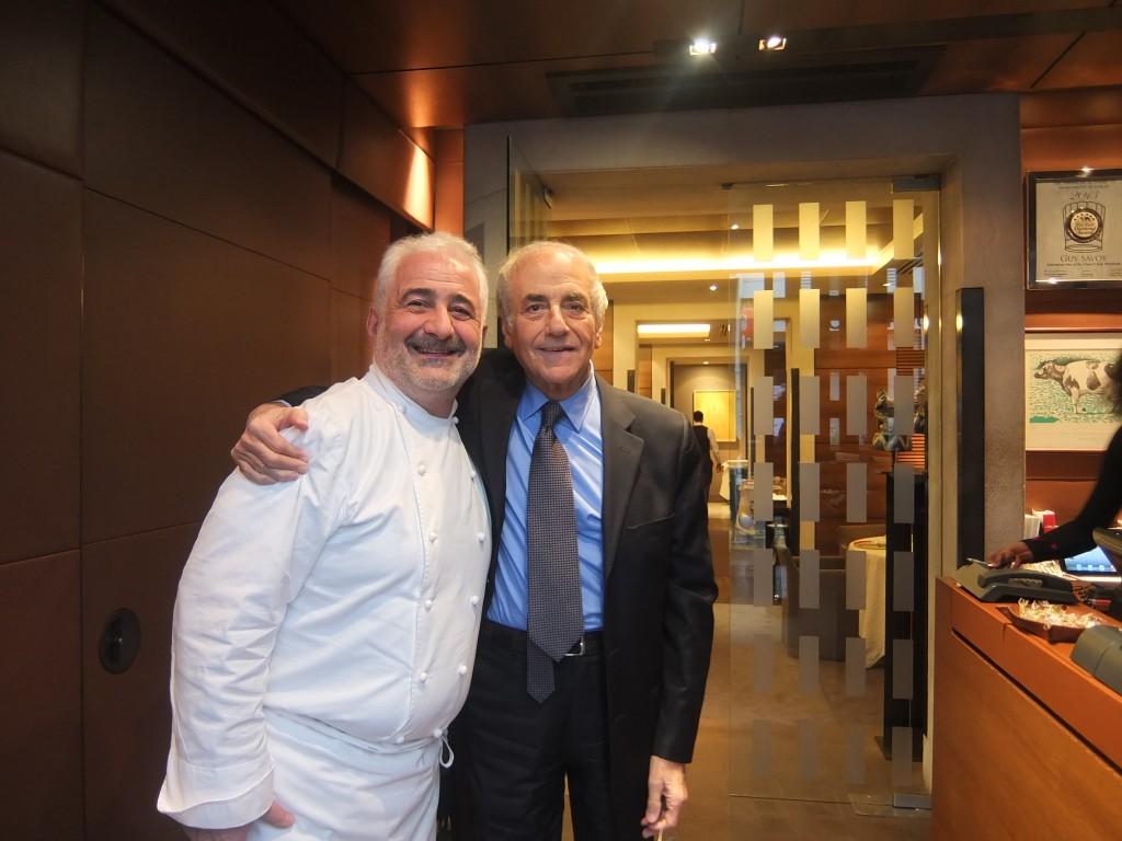 Guy Savoy et Jean-Pierre Elkabbach ©GP