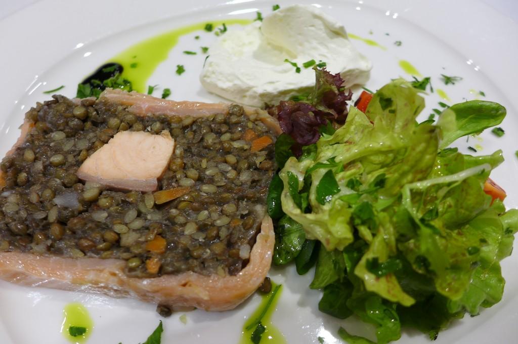 Pressé de lentilles au saumon © GP