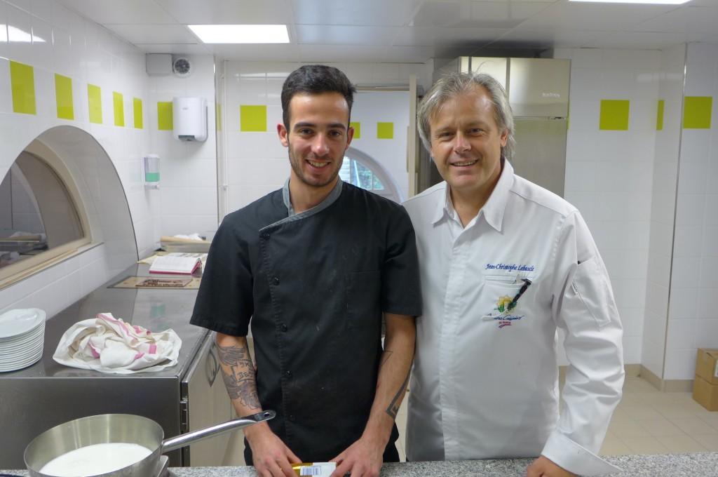 Le pâtissier et JC Lebascle © GP