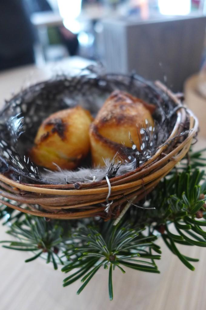 Bouchée oeuf de caille, lard de Colonnata © GP
