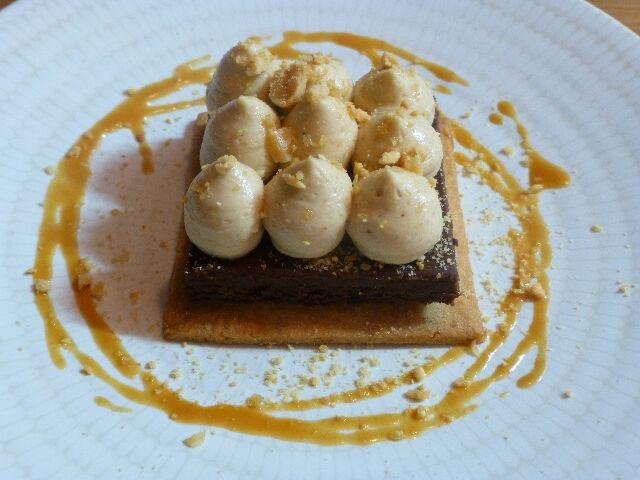 Tartelette chocolat, cacahuète ©DC