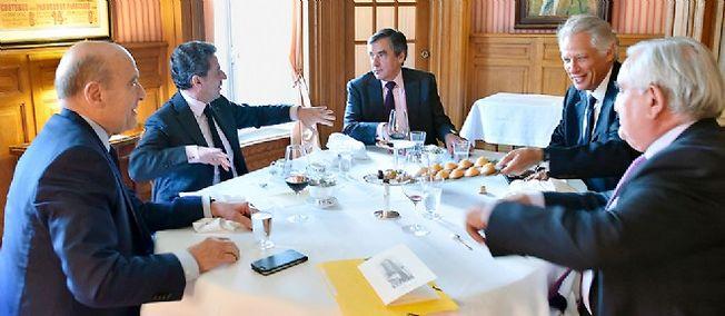 Juppé, Sarkozy, Fillon, Villepin, Raffarin © Sebastien Valente