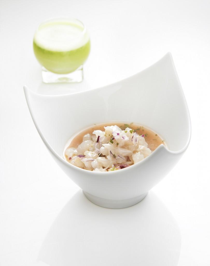 Ceviche de poisson et son mojito végétal ©Laurent Fau