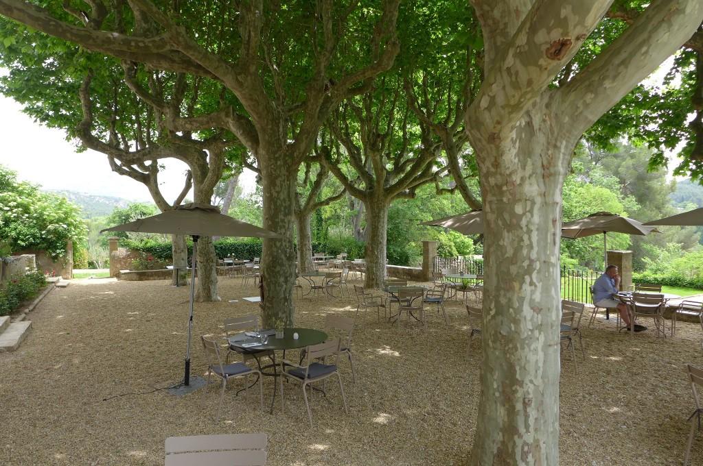 Tables sous les arbres ©GP