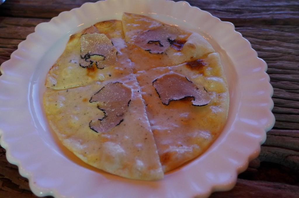 Pizza aux truffes © GP