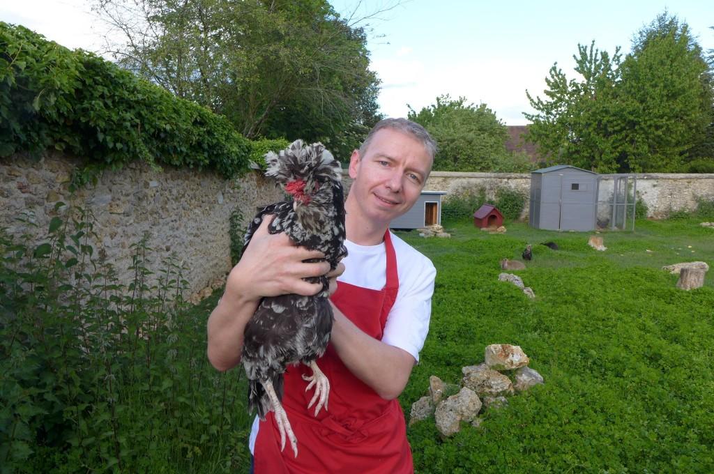 Laurent et la poule de Houdan © GP