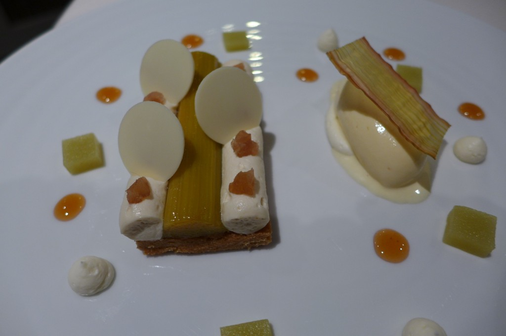 Rhubarbe et chocolat blanc © GP