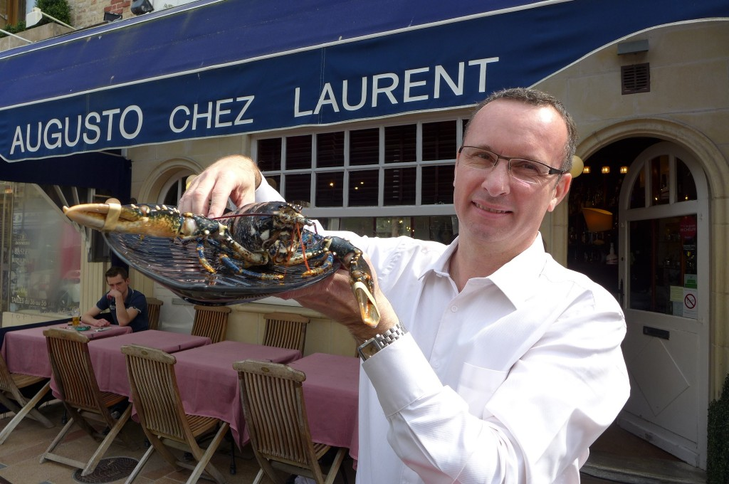 Laurent Garcès et son homard © GP