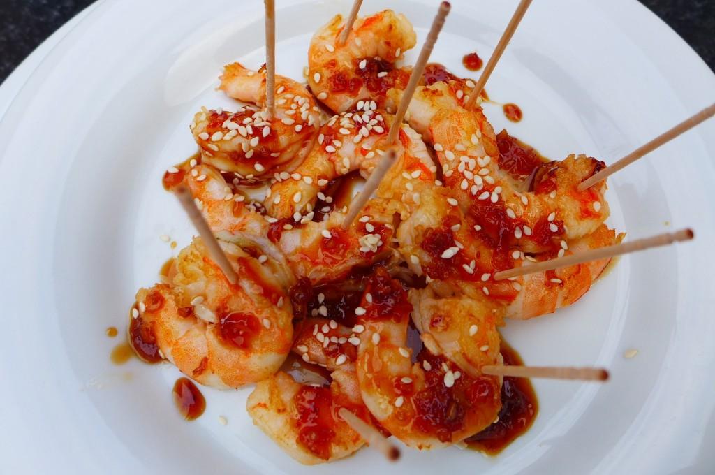 Crevettes au sésame © GP