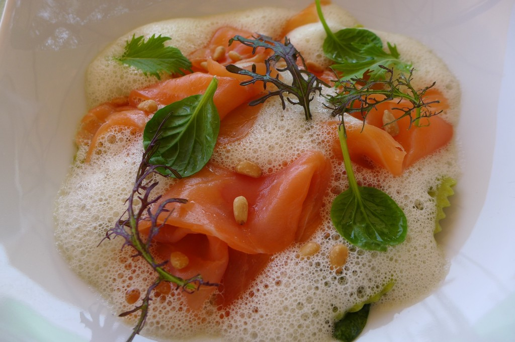 Raviole à la ricotta et saumon © GP