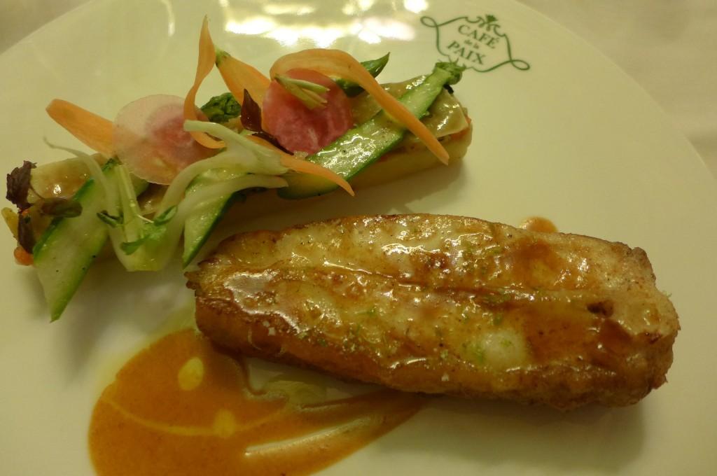 Turbot et millefeuille de légumes © GP