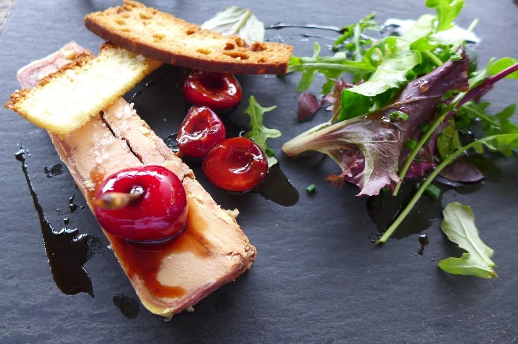 Marbré de foie gras aux cerises © GP