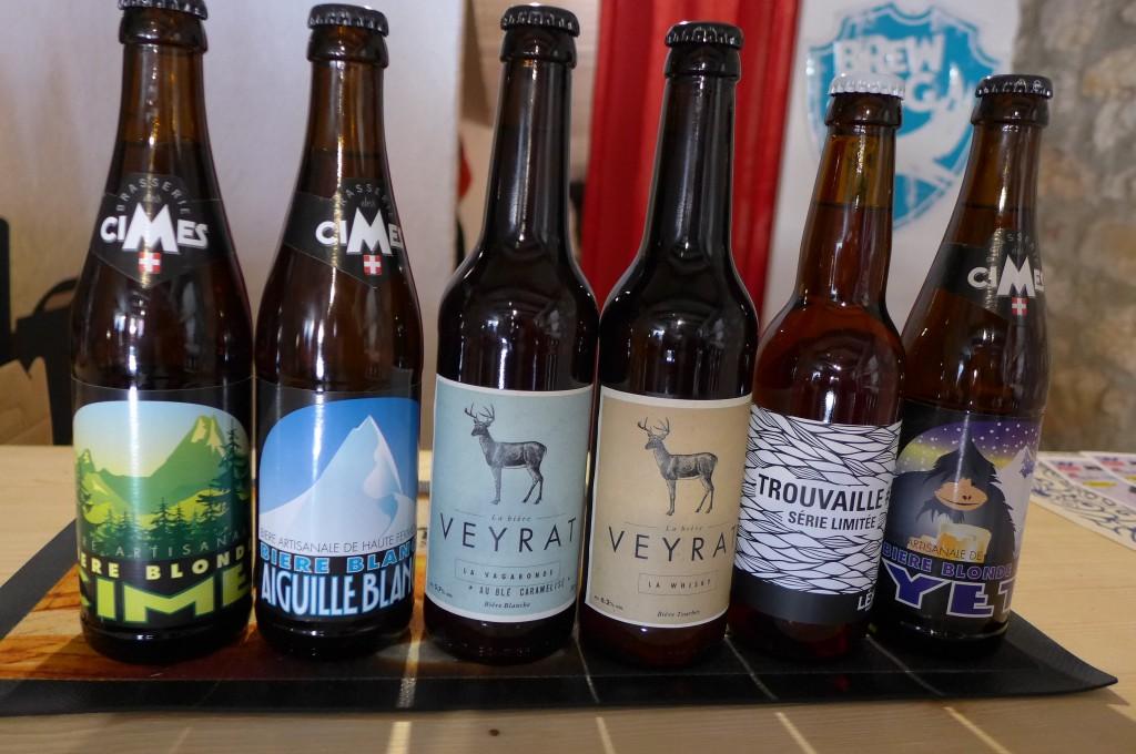 Quelques bières de montagne © GP