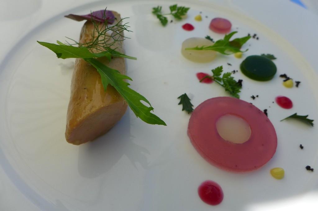 Foie gras et gelée de fleurs © GP
