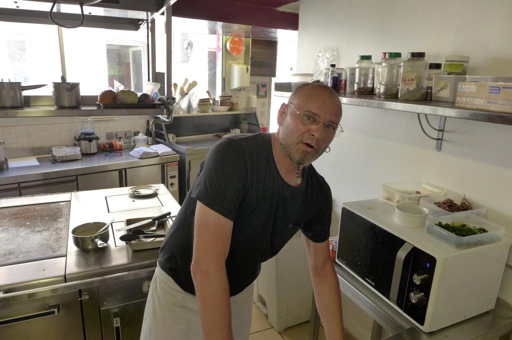 Franck Pelleau en cuisine © GP