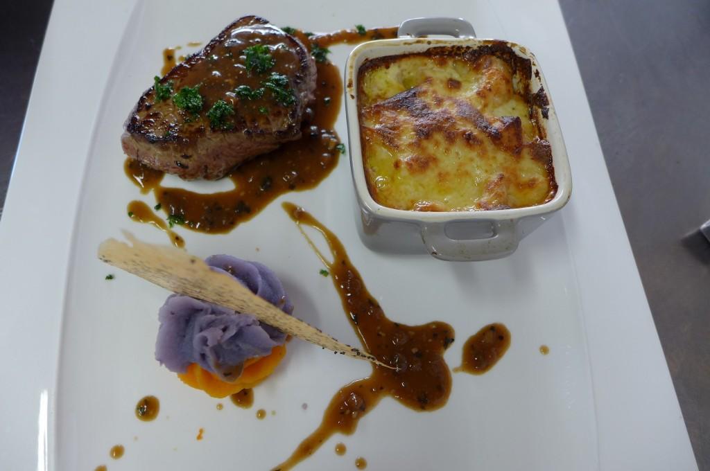 Médaillon de rumsteack au jus de foie gras  ©GP
