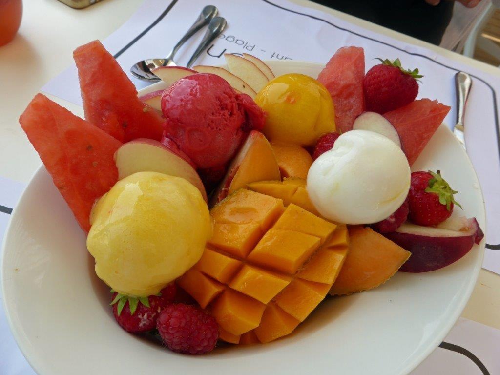 Fruits frais et sorbets ©AA