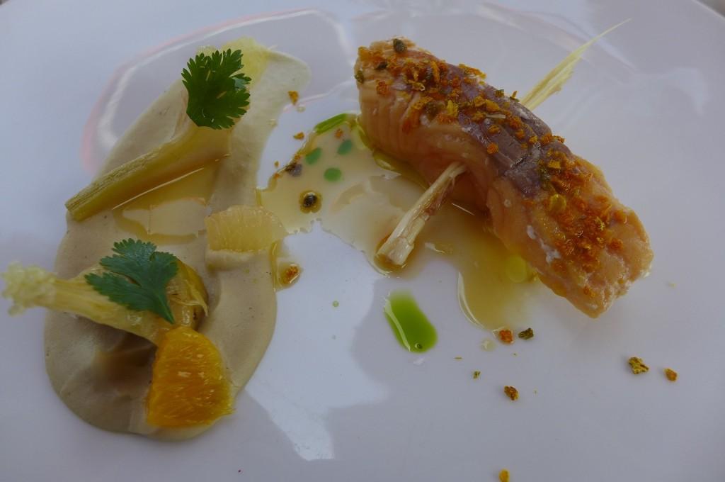 Truite et mousseline d'artichaut © GP