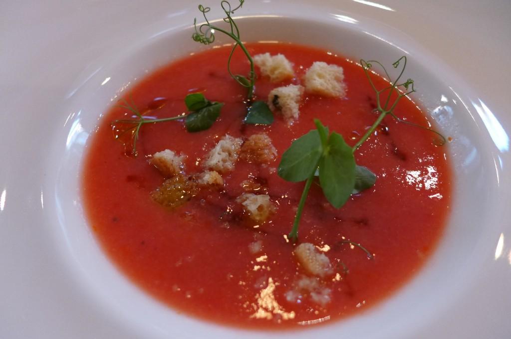 Soupe de tomate et pastèque © GP