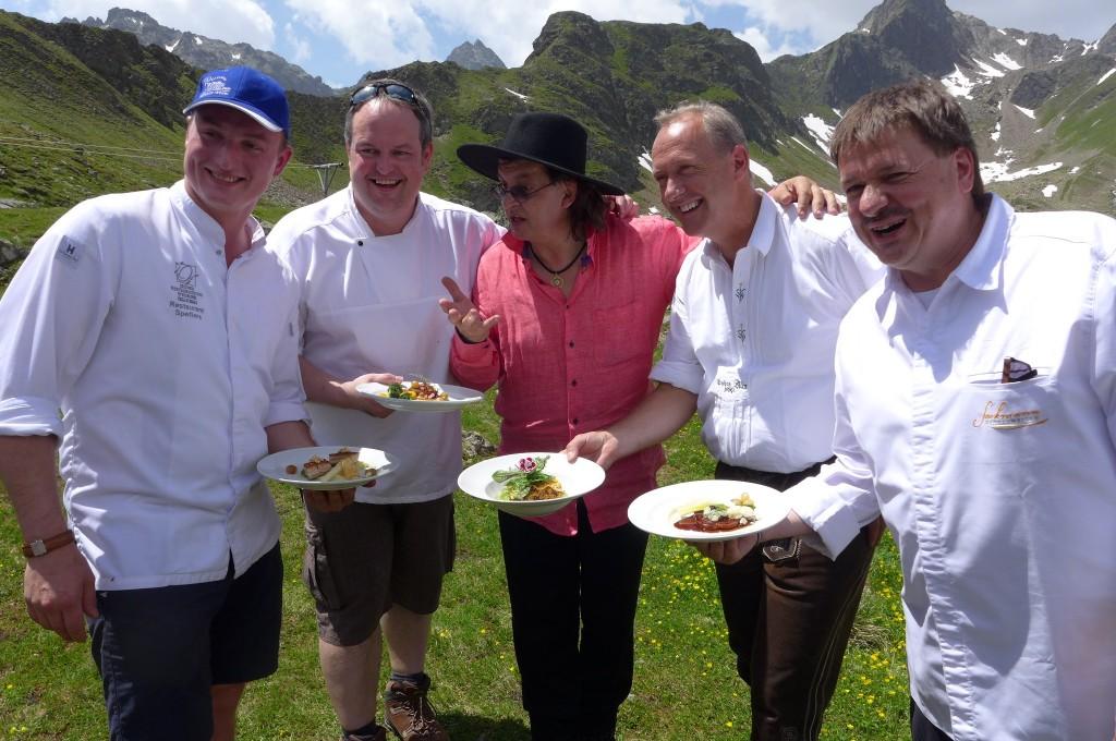 Les quatre chefs et Martin Sieberer ©GP