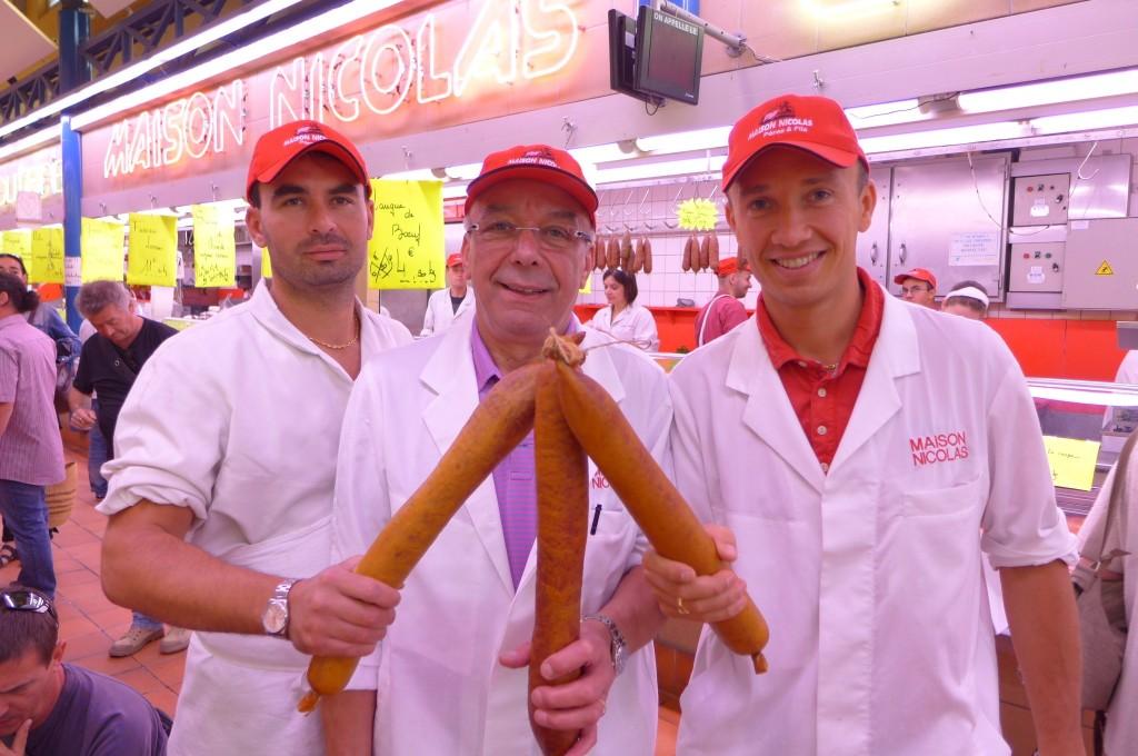 Samuel, Daniel et Julien Nicolas avec le fuseau lorrain © GP