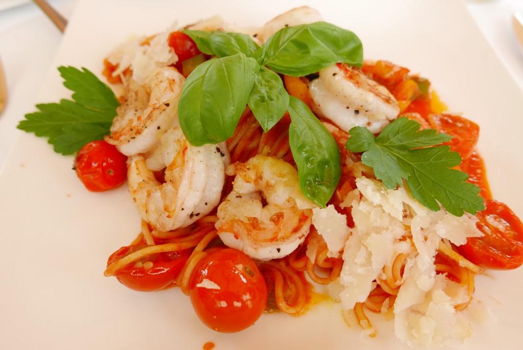 Spaghetti aux crevettes © GP