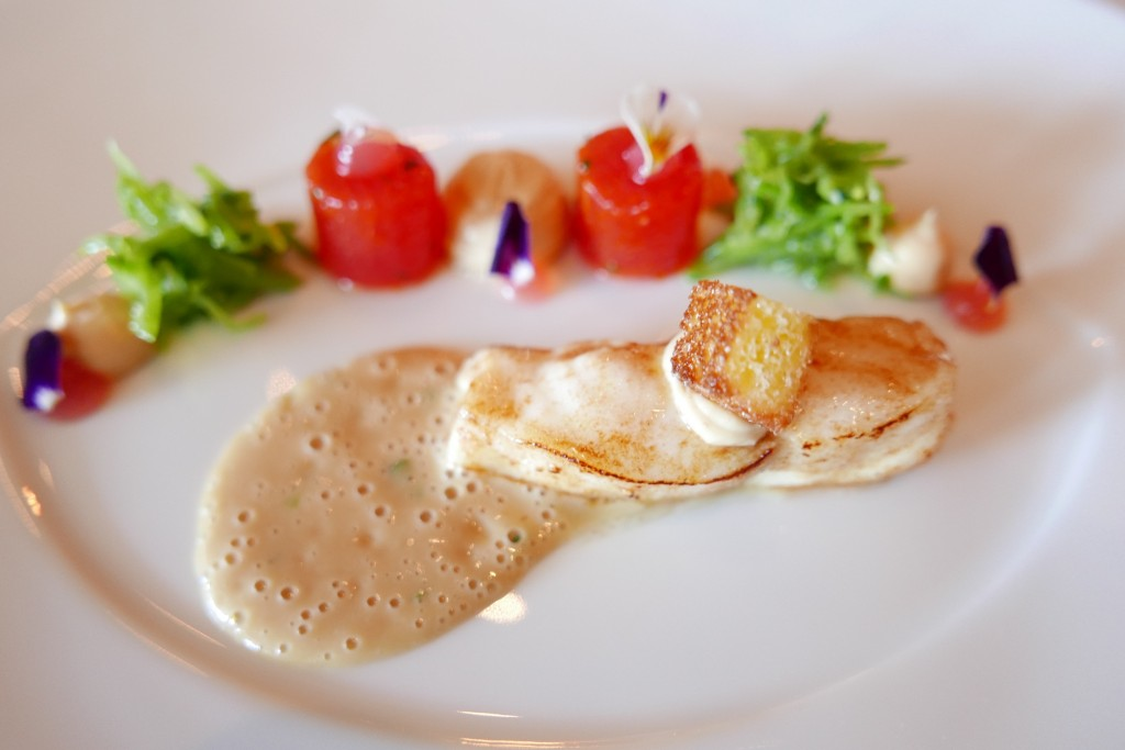 Turbot, pastèque, estragon © GP
