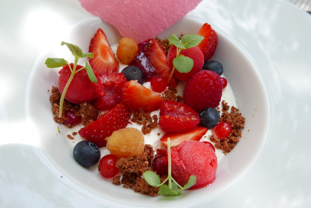 Panna cotta aux fruits rouges © GP
