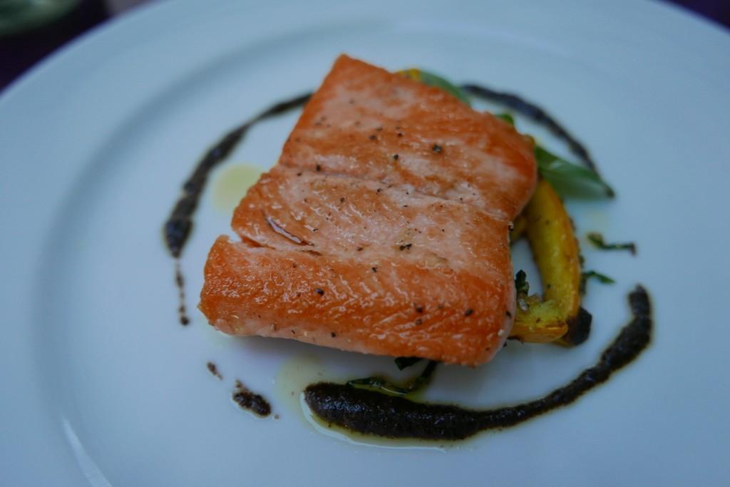 Truite saumonée et courgettes © GP