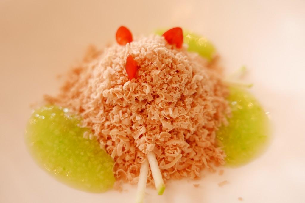 Râpée de foie gras et crabe © GP