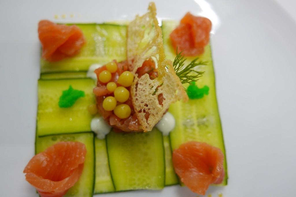 "Saumon mariné au ""caviar vert"" © GP"