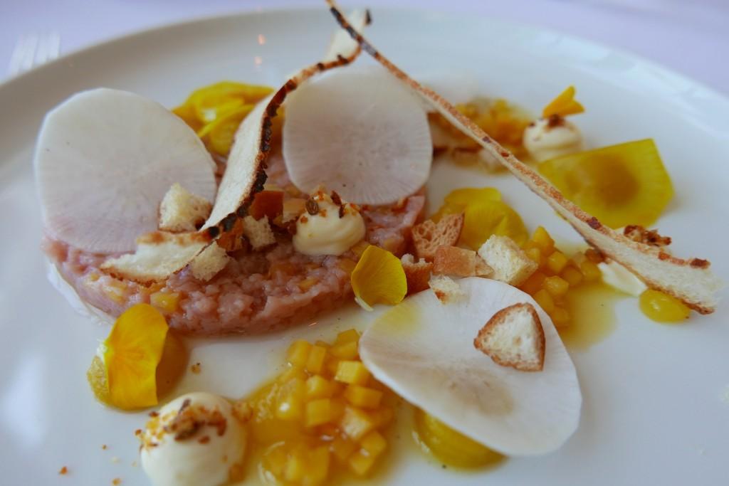 Tartare de veau à l'huile de citron © GP