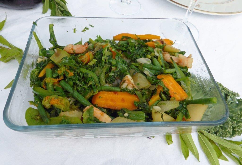 Sautéde légumes, crevettes mariné©GP