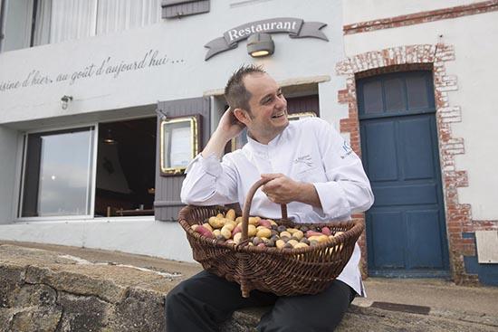 Europe/France/Pays-de-la-Loire/Vendée/Noirmoutier/L'herbaudière. La Marine et la Table d'Elise. Alexandre Couillon
