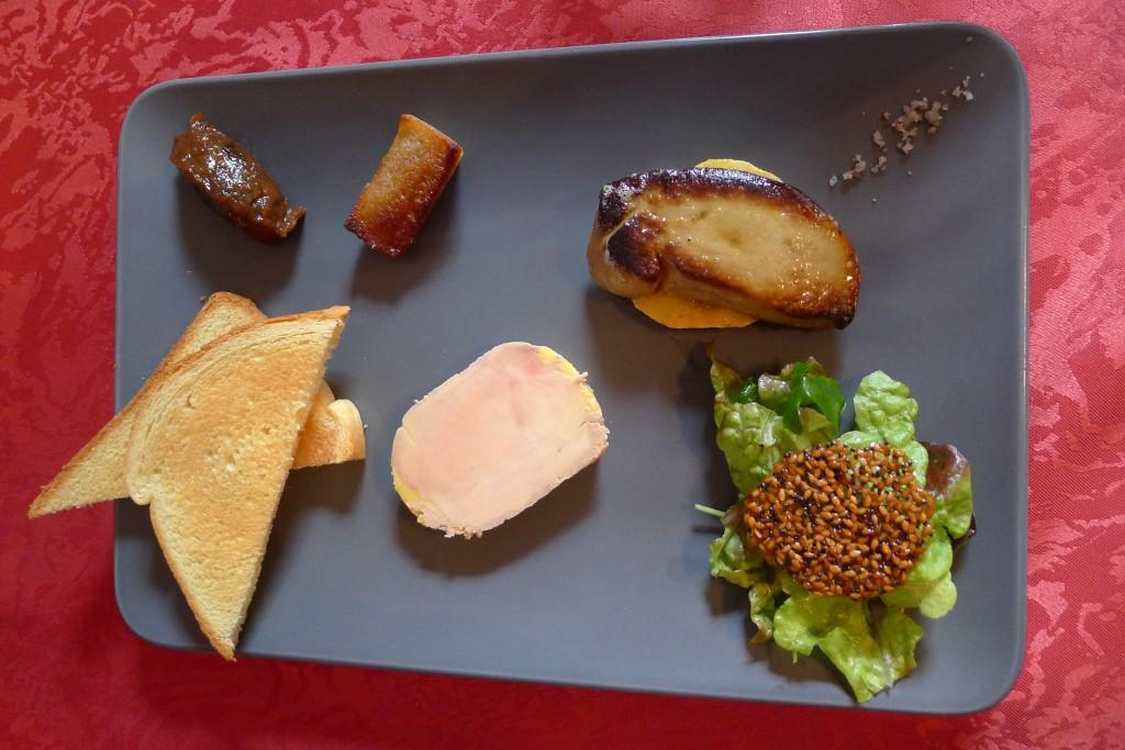 Duo de foie gras © JPE