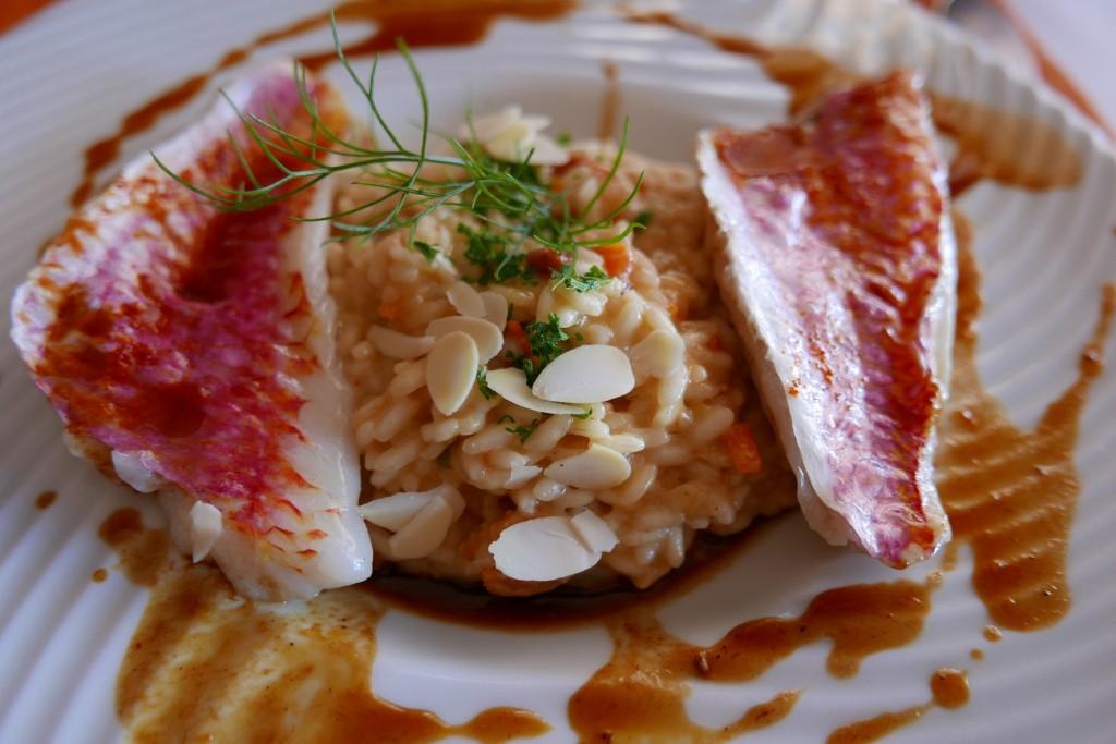 Rouget à la plancha et risotto aux légumes © GP