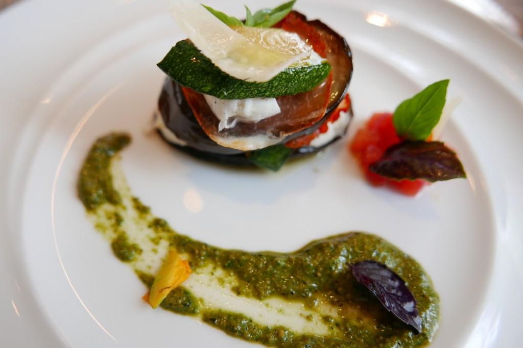 Mille-feuille de légumes et mozzarella © GP