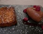 Brioche pain perdu, framboises et mousse chocolat © GP
