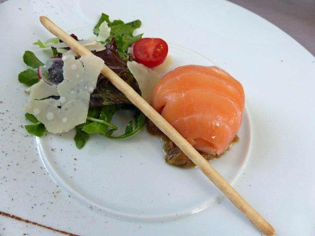 Pannequet de saumon fumé © AA