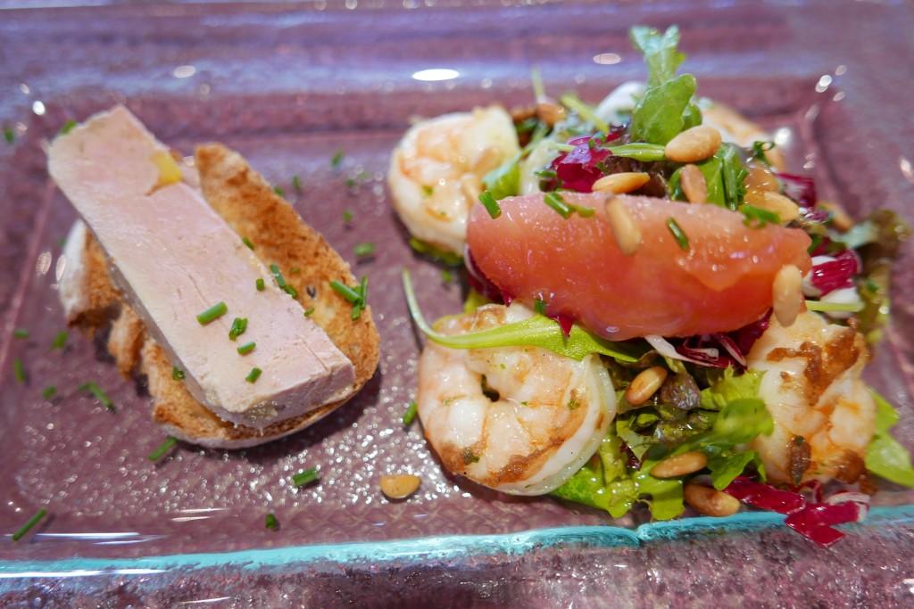 Gambas et foie gras © GP