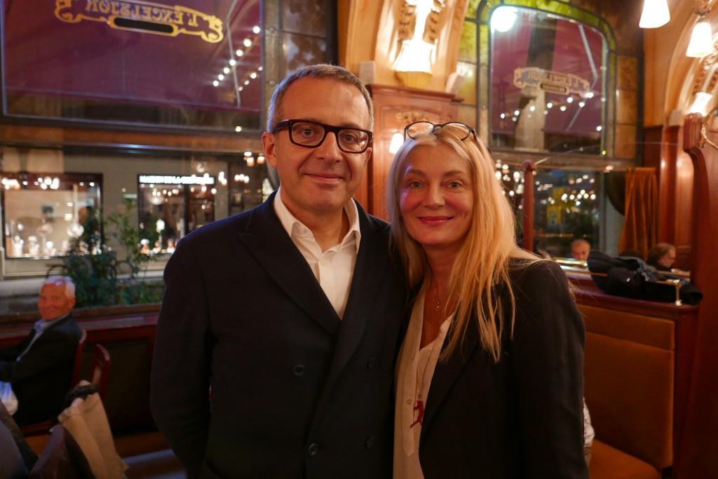 Charles Dantzig et Florence Godfernaux ©GP