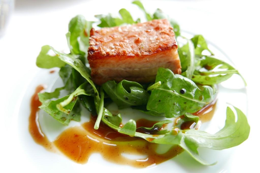 Lard et salade © GP
