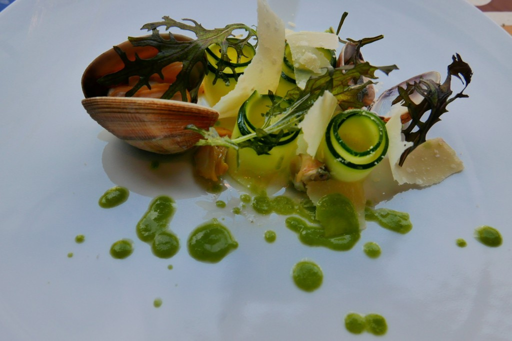 Courgettes et coquillages © GP