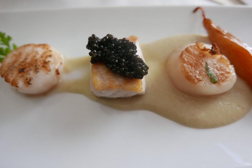 Saint-jacques et esturgeon des Lofoten et caviar © GP