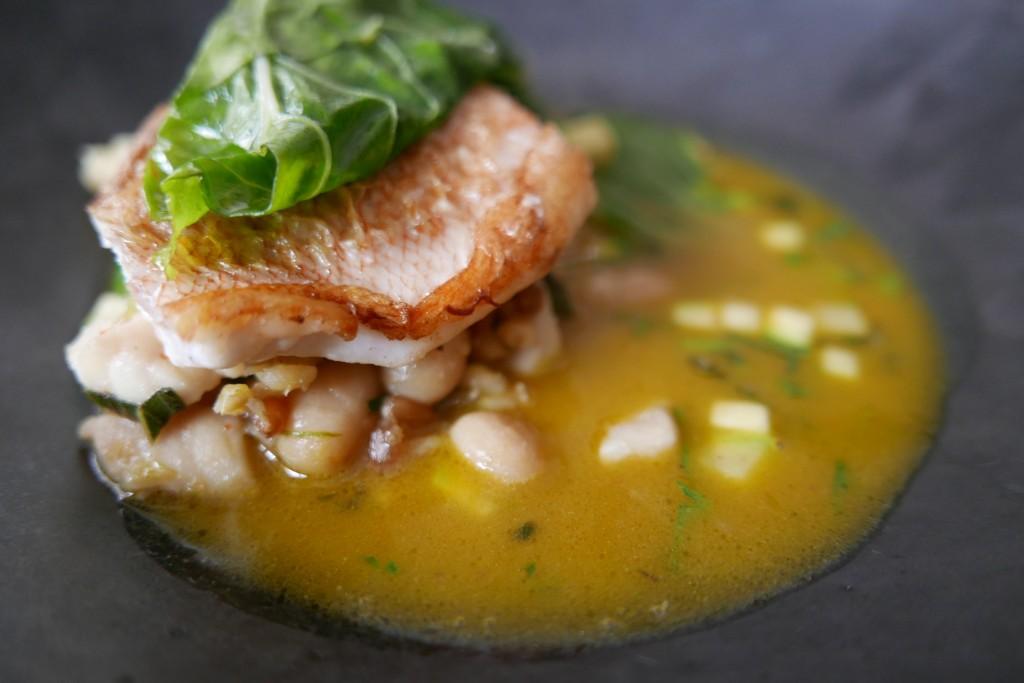 Dorade et soupe toscane © GP