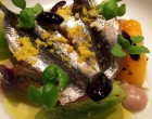 Salade de tomates jaunes et anchois ©DB