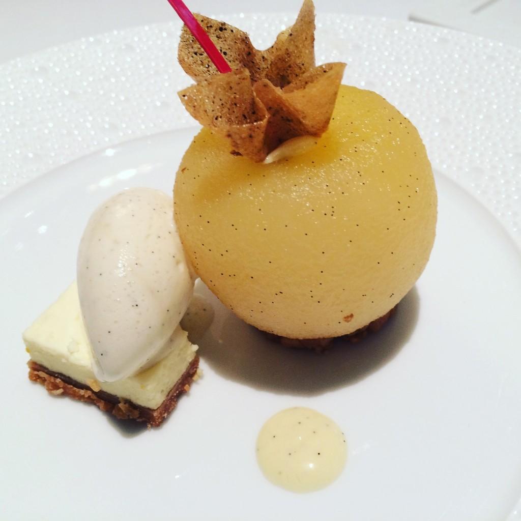 Pomme confite au gingembre © GP